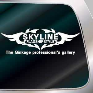 スカイライン エンブレム 車ステッカー:14cm×41cm   車 ステッカー 車用 ステッカー 車|ginkage
