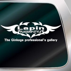 ラパン エンブレム 車ステッカー サイズ:14cm×41cm  車 ステッカー 車用 ステッカー 車|ginkage