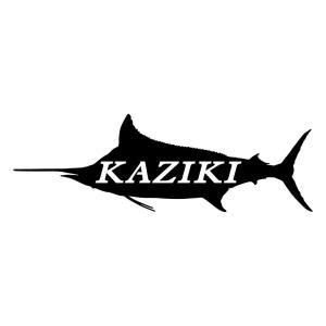 カジキ 魚 釣り ステッカー おしゃれ シルエット 文字ステッカー|ginkage