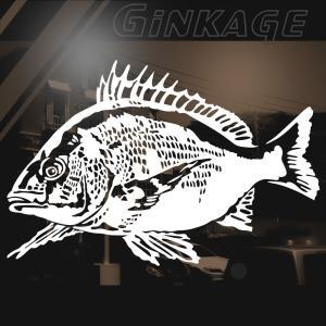 釣り ステッカー かっこいい 黒鯛 フィッシング デカール ステッカー|ginkage