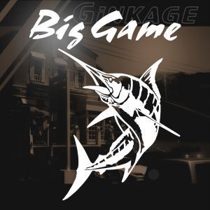 釣り ステッカー かっこいい カジキ クーラー 車 リア用  Big Game 左向き|ginkage