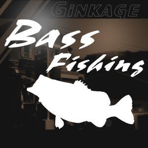 ブラックバス 釣り ステッカー かっこいい 文字 フィッシング ステッカー|ginkage
