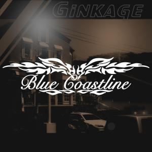 サーフィン 車 ステッカー 名入れ 筆記体 文字 メーカー ロゴ カッティング ステッカー|ginkage