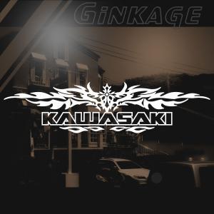 KAWASAKI カワサキ バイク ステッカー かっこいい十字架  エンブレム ginkage