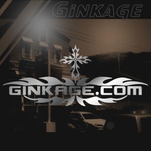 サーフ ステッカー かっこいい 車 ステッカー サイズ:12cm×28cm :シルバー色 リアガラス ステッカー 車  ステッカー サーフ インテリア|ginkage