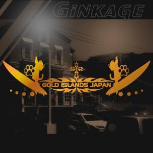 サーフ ステッカー かっこいい 車 ステッカー サイズ:16cm×57cm :ゴールド色 リアガラス ステッカー 車  ステッカー サーフ インテリア|ginkage