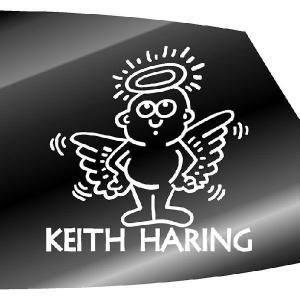キース・ヘリング ステッカー キースへリング :20cm×20cm 車 ステッカー 車用 ステッカー 車 おもしろ ステッカー おもしろ|ginkage