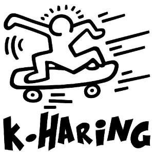 キース・ヘリング ステッカー キースへリング :22cm×22cm       車 ステッカー 車用 ステッカー 車 おもしろ ステッカー おもしろ|ginkage