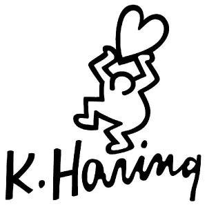 キース・ヘリング ステッカー キースへリング :15cm×15cm       車 ステッカー 車用 ステッカー 車 おもしろ ステッカー おもしろ|ginkage