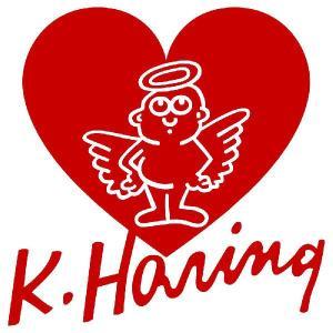 キース・ヘリング ステッカー  サイズ:8cm×8cm (赤色)  車 ステッカー 車用 ステッカー 車   おもしろ ステッカー おもしろ キースヘリング|ginkage