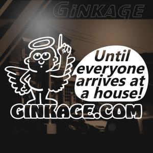 車ステッカー キース へリング 天使の 安全運転 ステッカー|ginkage