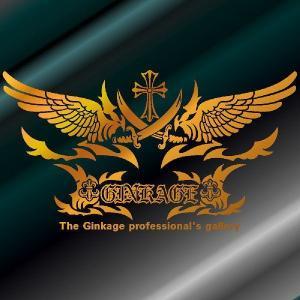 かっこいい 十字架 ウイング 車 ステッカー オリジナル ロゴ エンブレム リアガラス用|ginkage