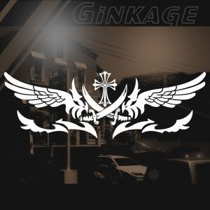 車 ステッカー かっこいい十字架 デカール インパクト|ginkage