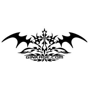 十字架 トライバル センター クロス ライン ステッカー  サイズ:8cm×20cm 【黒色】 カッティング サーフ ステッカー かっこいい 車 ステッカー|ginkage