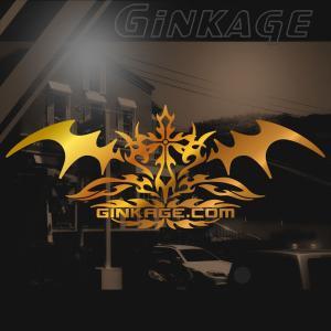 十字架 トライバル センター クロス ライン ステッカー  サイズ:8cm×20cm 【ゴールド色】 カッティング サーフ ステッカー かっこいい 車 ステッカー|ginkage
