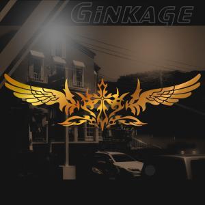 ステッカー 十字架 トライバル センター クロス|ginkage