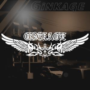 十字架 車 ステッカー かっこいい メーカー 名入れ 文字 ロゴ エンブレム カッティング ステッカー|ginkage
