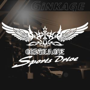 車 ステッカー かっこいい 十字架 ウイング エンブレム スポーツ ドライブ ステッカー|ginkage