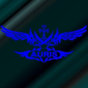 ステッカー オーリス エンブレム サイズ:18cm×40cm 青 ステッカー 車 ステッカー リアガラス ステッカー 十字架   かっこいい|ginkage
