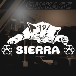 SUZUKI スズキ シエラ 車 ステッカー おしゃれな 切り文字 ねこ 肉球 ネームプレート用 猫 雑貨 ネコ ステッカー|ginkage