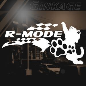 かっこいい 車 バイク ステッカー 左サイド 猫  レーシング フラッグ ステッカー ginkage