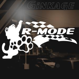 かっこいい 車 バイク ステッカー 右サイド 猫  レーシング フラッグ ステッカー ginkage