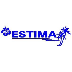 トヨタ エスティマ 車 ステッカー サーファーのおしゃれな ハワイアン エンブレム 青色タイプ Sサイズ リアガラス用 他|ginkage