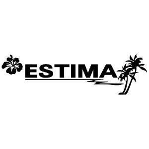 エスティマ ステッカー サーフ  サイズ:12cm×42cm (黒色) ステッカー 車 ステッカー エンブレム ハワイアン|ginkage