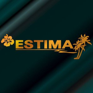 エスティマ ステッカー サーフ  サイズ:12cm×42cm (金色) ステッカー 車 ステッカー エンブレム ハワイアン|ginkage