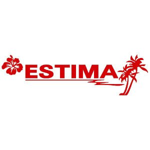 エスティマ ステッカー サーフ  サイズ:16cm×56cm (赤色) ステッカー 車 ステッカー エンブレム ハワイアン|ginkage