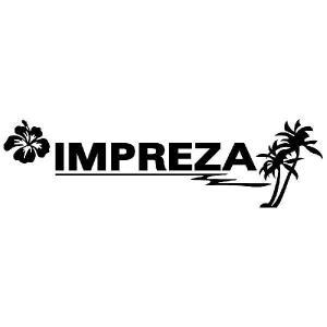 インプレッサ ステッカー サーフ  :12cm×42cm (黒色)  ステッカー 車 ステッカー エンブレム ハワイアン|ginkage