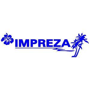 インプレッサ ステッカー サーフ  :12cm×42cm (青色)  ステッカー 車 ステッカー エンブレム ハワイアン|ginkage