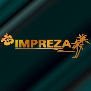 インプレッサ ステッカー サーフ  :12cm×42cm (金色)  ステッカー 車 ステッカー エンブレム ハワイアン|ginkage