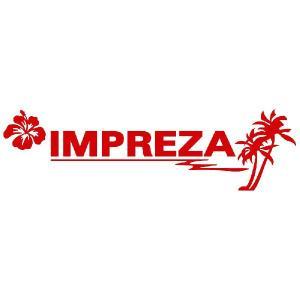 インプレッサ ステッカー サーフ  :12cm×42cm (赤色)  ステッカー 車 ステッカー エンブレム ハワイアン|ginkage