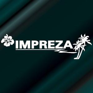 インプレッサ ステッカー サーフ  :12cm×42cm (白色)  ステッカー 車 ステッカー エンブレム ハワイアン|ginkage