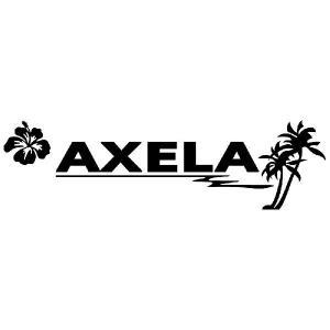 アクセラ ステッカー サーフ   サイズ:12cm×42cm (黒色) ステッカー 車 ステッカー エンブレム ハワイアン|ginkage