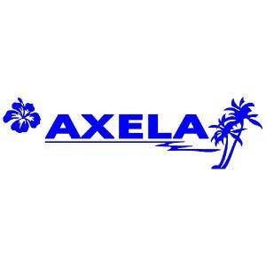 アクセラ ステッカー サーフ   サイズ:12cm×42cm (青色) ステッカー 車 ステッカー エンブレム ハワイアン|ginkage