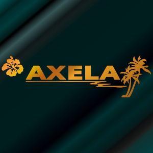 アクセラ ステッカー サーフ   サイズ:12cm×42cm (金色) ステッカー 車 ステッカー エンブレム ハワイアン|ginkage