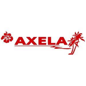アクセラ ステッカー サーフ   サイズ:12cm×42cm (赤色) ステッカー 車 ステッカー エンブレム ハワイアン|ginkage