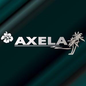 アクセラ ステッカー サーフ   サイズ:12cm×42cm (銀色) ステッカー 車 ステッカー エンブレム ハワイアン|ginkage