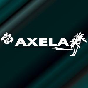 アクセラ ステッカー サーフ   サイズ:12cm×42cm (白色) ステッカー 車 ステッカー エンブレム ハワイアン|ginkage