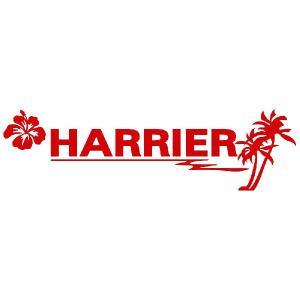 ハリアー ステッカー サーフ  サイズ:8cm×28cm (赤色) ステッカー 車 ステッカー エンブレム ハワイアン|ginkage