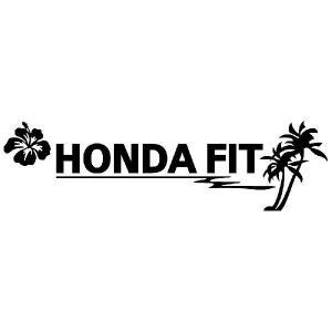 ホンダ フィット ステッカー サーフ  :12cm×42cm (黒色)  ステッカー 車 ステッカー エンブレム ハワイアン|ginkage