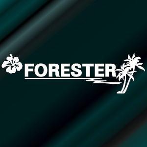 フォレスター ステッカー サーフ  :16cm×56cm (白色)  ステッカー 車 ステッカー エンブレム ハワイアン ginkage