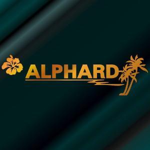 アルファード ステッカー サーフ  :12cm×42cm (金色)  ステッカー 車 ステッカー エンブレム ハワイアン|ginkage