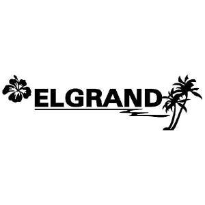 エルグランド ステッカー サーフ  :16cm×56cm (黒色)  ステッカー 車 ステッカー エンブレム ハワイアン|ginkage