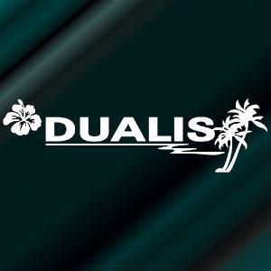 デュアリス ステッカー サーフ サイズ:8cm×28cm (白色)  ステッカー 車 ステッカー エンブレム ハワイアン|ginkage