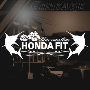 ホンダ フィット 車 ステッカー かっこいい メーカー ハワイアン エンブレム カッティング ステッカー|ginkage