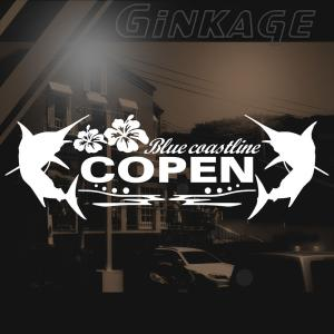 ダイハツ コペン 車 ステッカー かっこいい メーカー ハワイアン エンブレム カッティング ステッカー|ginkage
