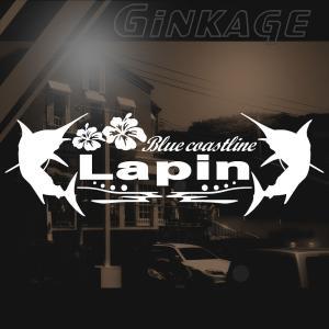 スズキ ラパン 車 ステッカー かっこいい メーカー ハワイアン エンブレム カッティング ステッカー|ginkage